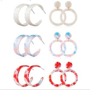 Jewelry - ‼️BOGO FREE BaubleBar Style Acrylic Hoop Earrings